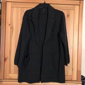 J Crew dark grey merino wool sweater blazer large